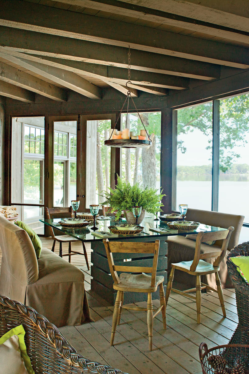 Elements of Sophisticated Camp Style: Natural Furniture