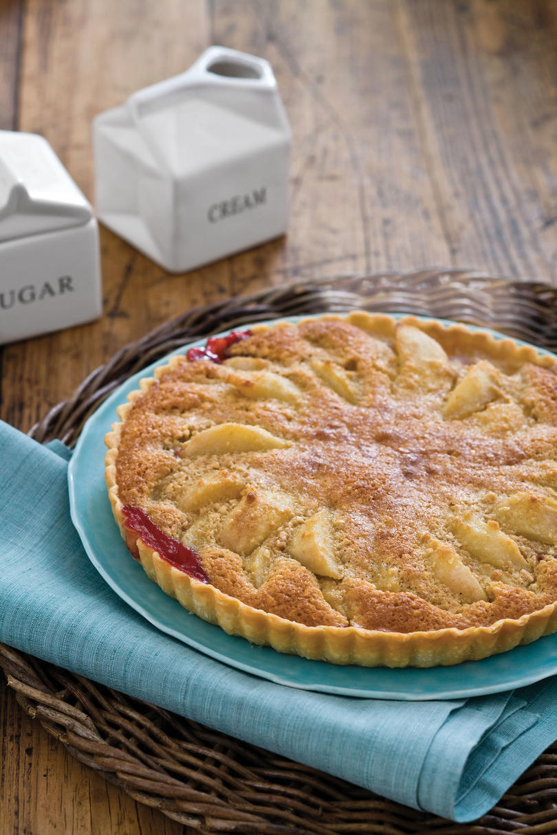 Raspberry-Almond Pear Tart