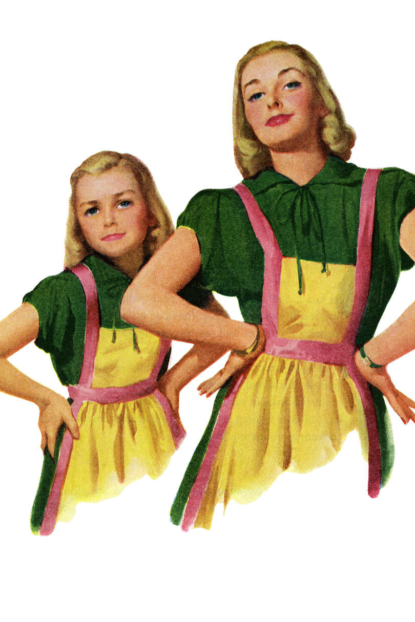 Mom and Daughter Matching Aprons