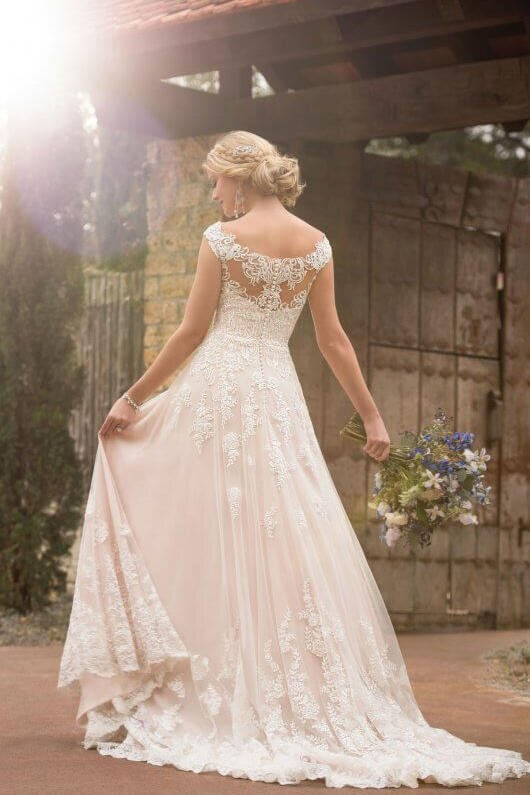 4e33bb2e39e4 Blush Wedding Dress Styles We Love