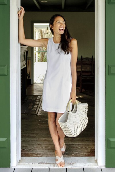 50a6737a5d41 The Classic White Shift Dress Will Always be a Southern Staple