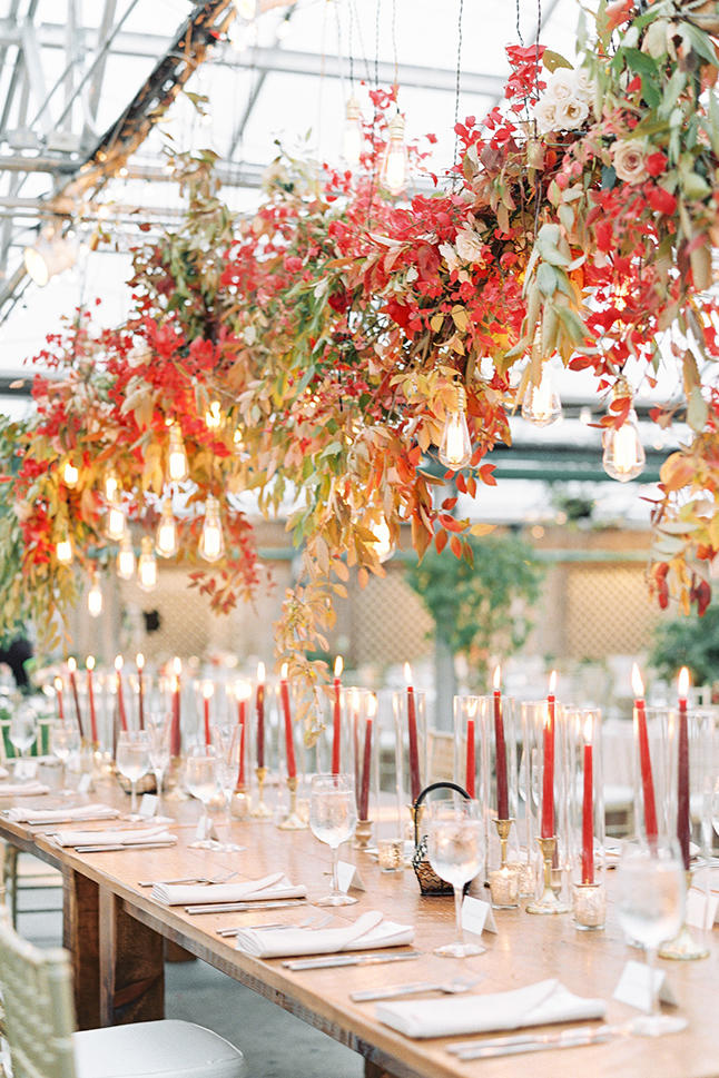 Suspended Foliage Wedding