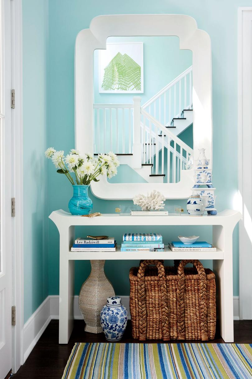 Bright Blue Foyer