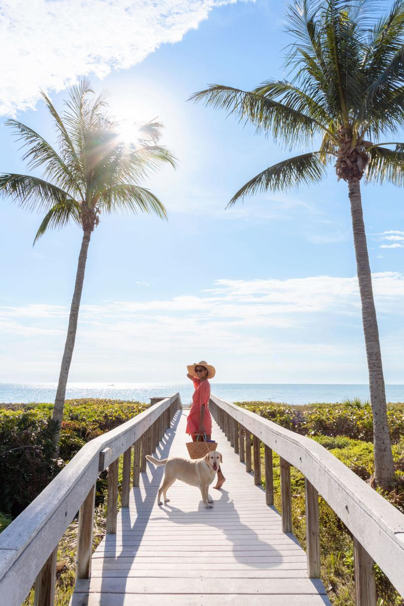 Boardwalk to the Beach at the Sundial Beach Resort & Spa on Sanibel Island, Florida