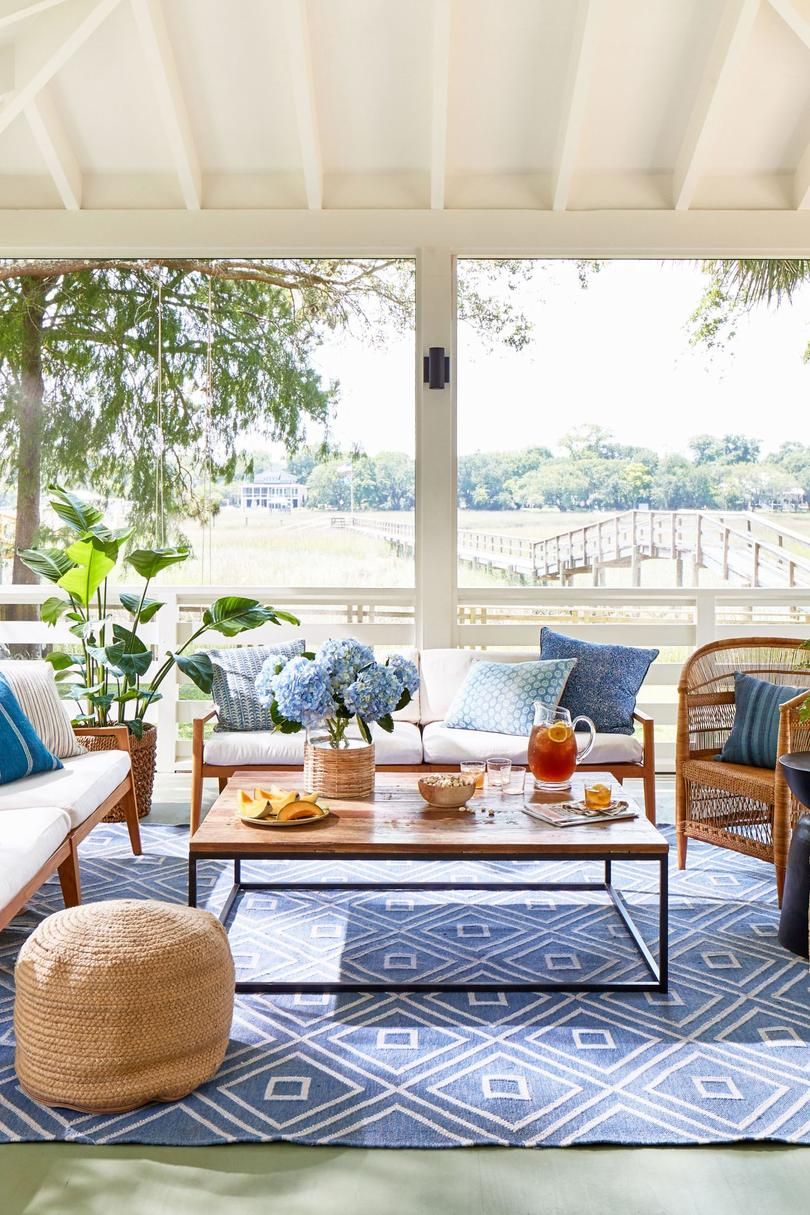 Blue and White Porch on Shem Creek