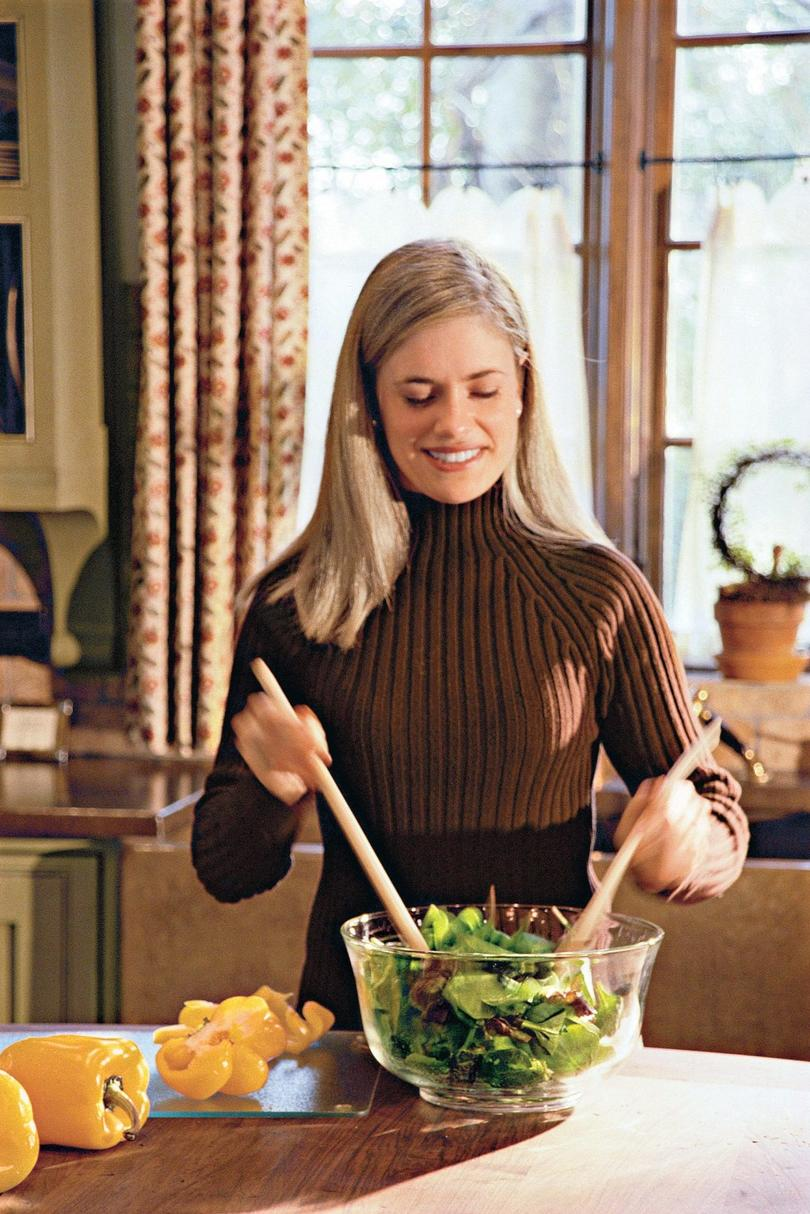 Woman with Healthy Salad