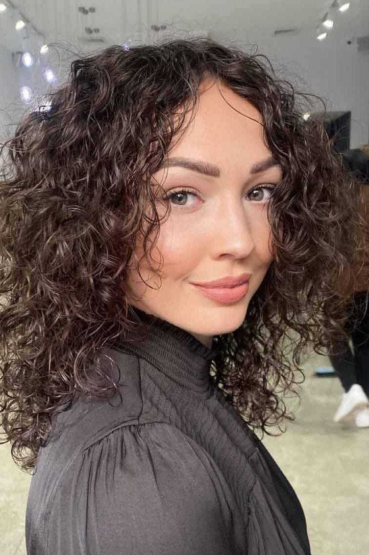 Layered Shoulder Length Hairstyles loose curls