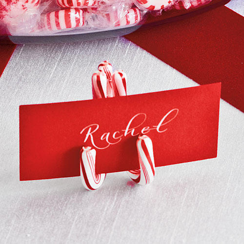 Candy Cane Place Cards