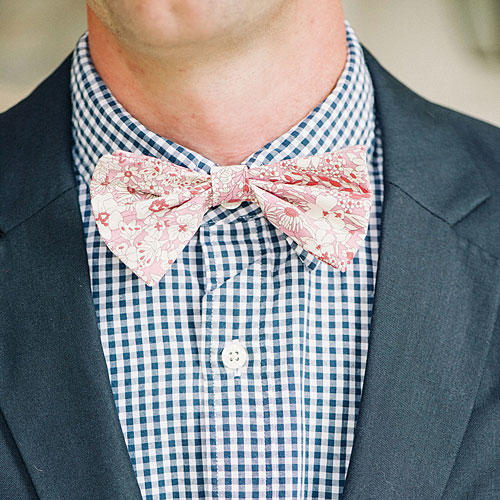 Patterned Pink Bow Tie