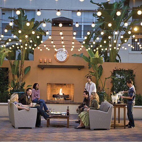 Glowing Outdoor Fireplaces Ideas