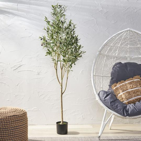 Artificial Olive Tree in Pot_Wayfair 02