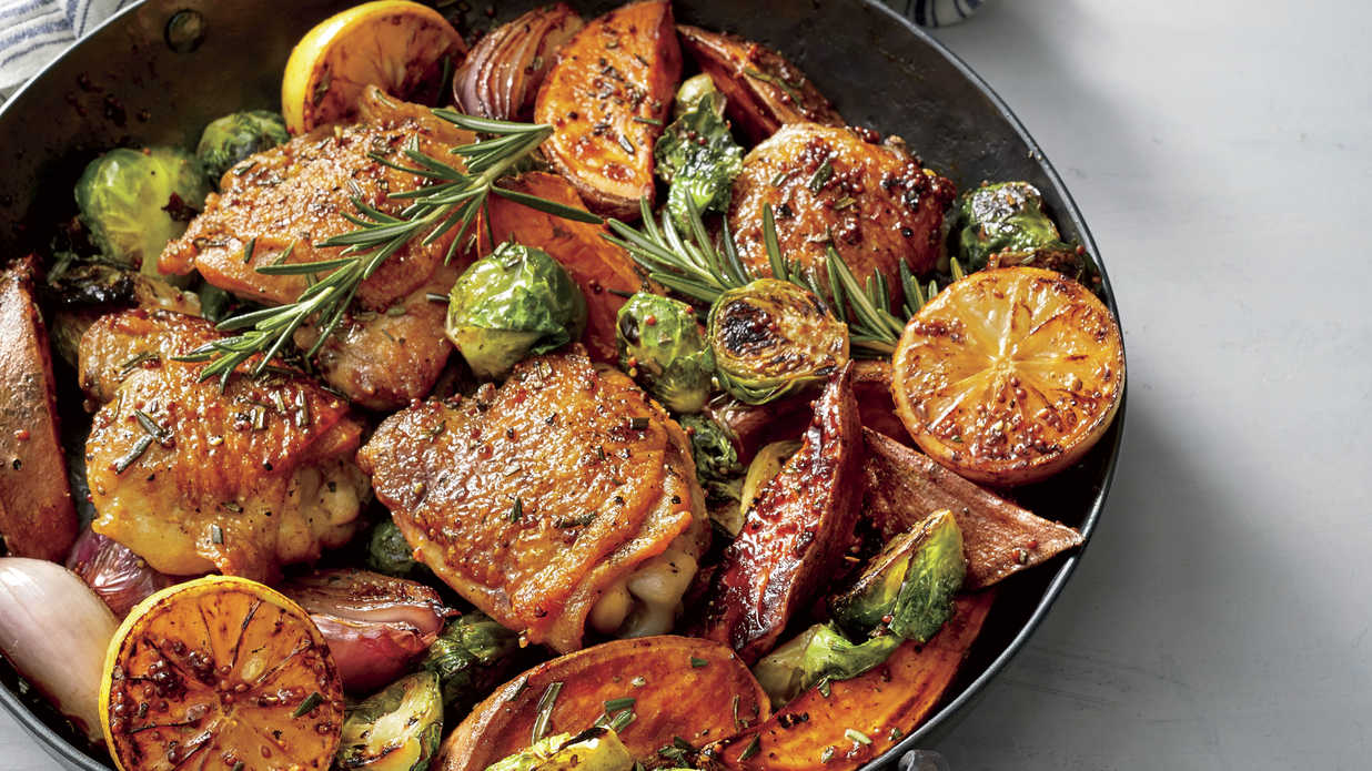 Oven Baked Chicken Thighs with Vegetables