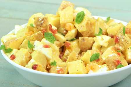 Well Done Potato Salad Carbonara
