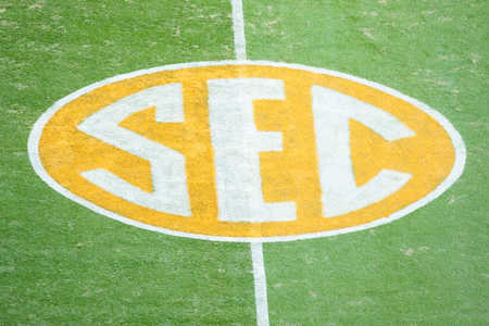 SEC Logo on Football Field