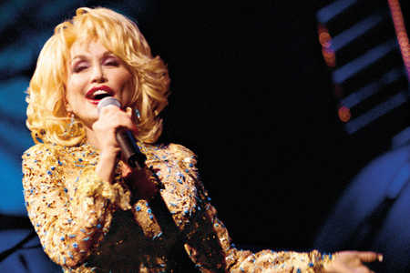 Dolly Parton Performing Onstage at Dollywood