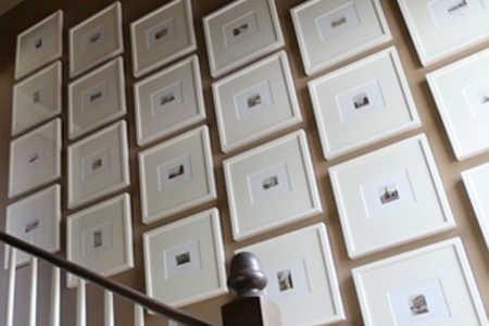 Hanging Art in a Stairway