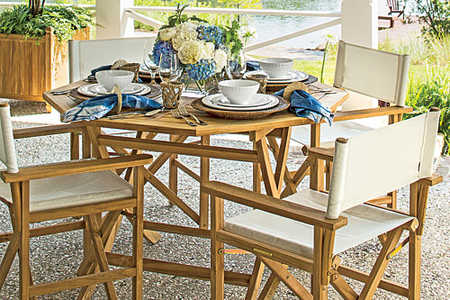 Palmetto Bluff Setting an Outdoor Table