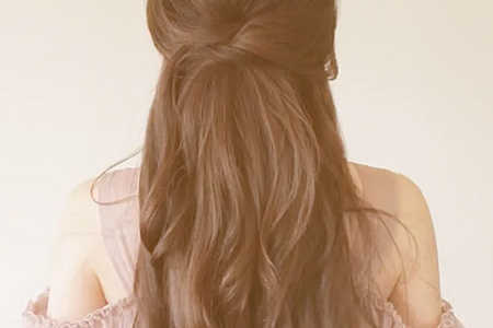 Half-Up Hairstyle