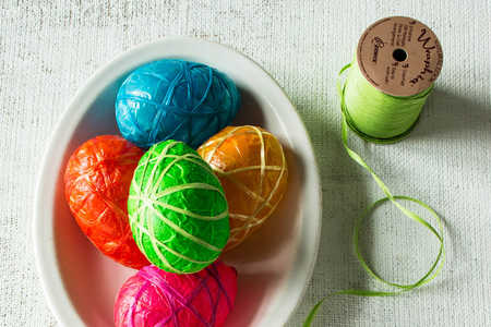 Mod Podge Easter Eggs Steps 5 and 6