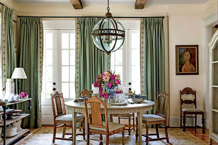 After: Fresh Traditional Dining Room