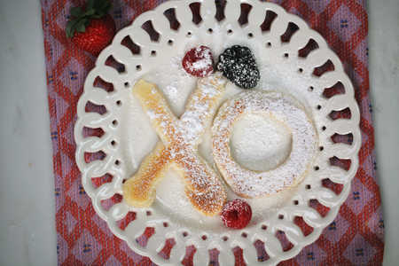 XO Pancakes for Valentine's Day