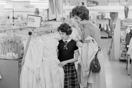 Mama and Daughter Drssing Shopping
