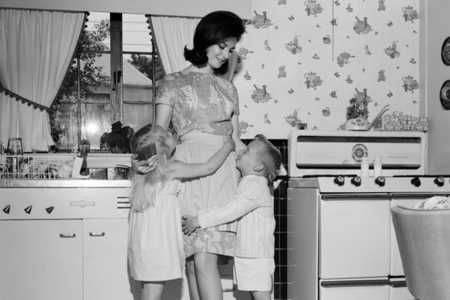 Southern Mother in Vintage Kitchen