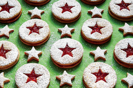 Peanut Butter-and-Jelly Linzer Cookies