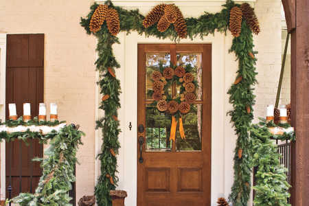 Pinecone Garland Front Door
