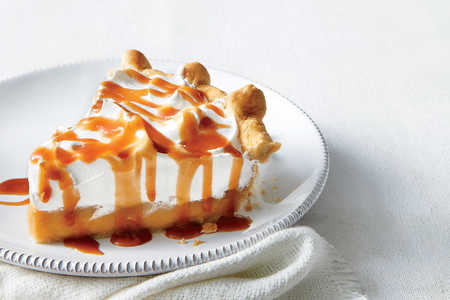 Butterscotch Pie with Whiskey Caramel Sauce