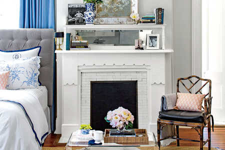 Two-Tiered Fireplace Mantle
