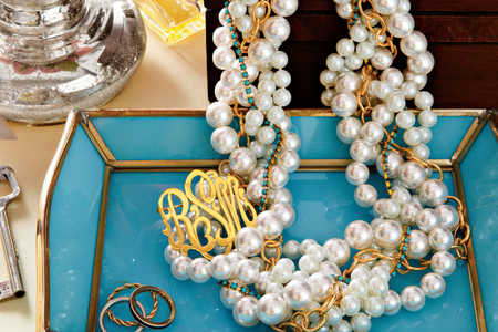 Southern Living Glass Pearl Necklace