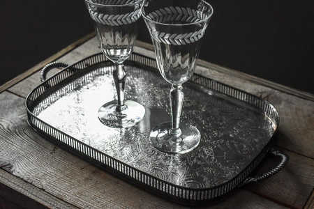 Silver Plate Serving Tray With Handles