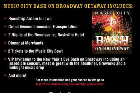Nashville - Win a VIP Experience at Music City's New Year's Eve Bash