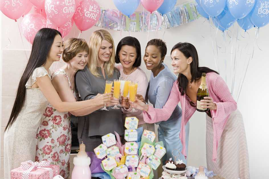 Women Toasting Baby Shower