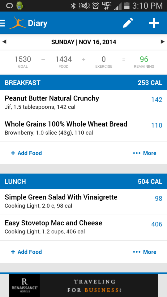 MyFitnessPal is a smartphone app that allows you to track your calories and exercise. The app integrates with some fitness trackers to provide a more holistic view of your everyday fitness activity and calorie consumption.