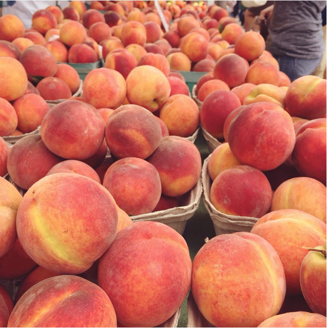 Check out all of these peaches I found at the Farmers' Market. #cobblertime