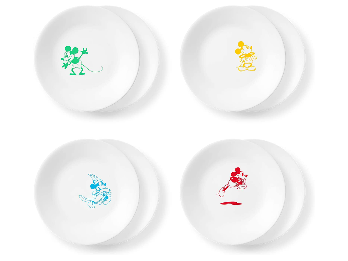 Corelle Mickey Mouse 6.75-Inch Appetizer Plates