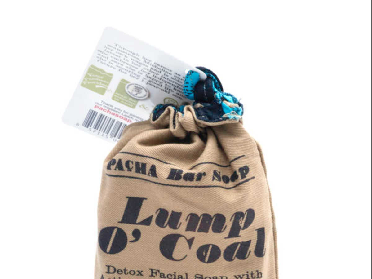 1611w Whole Foods Lump O' Coal Soap Bag