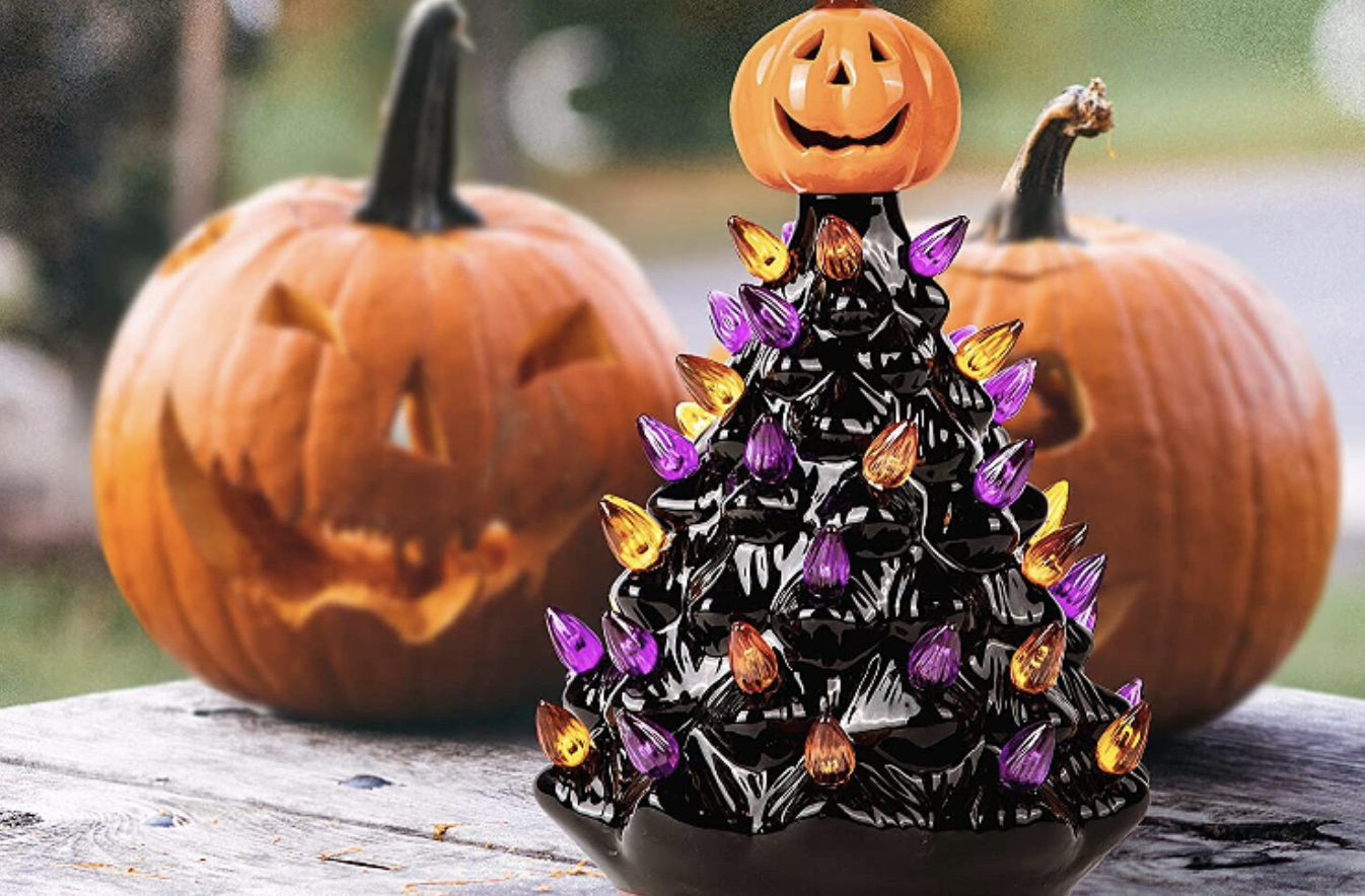 Halloween Ceramic Tree