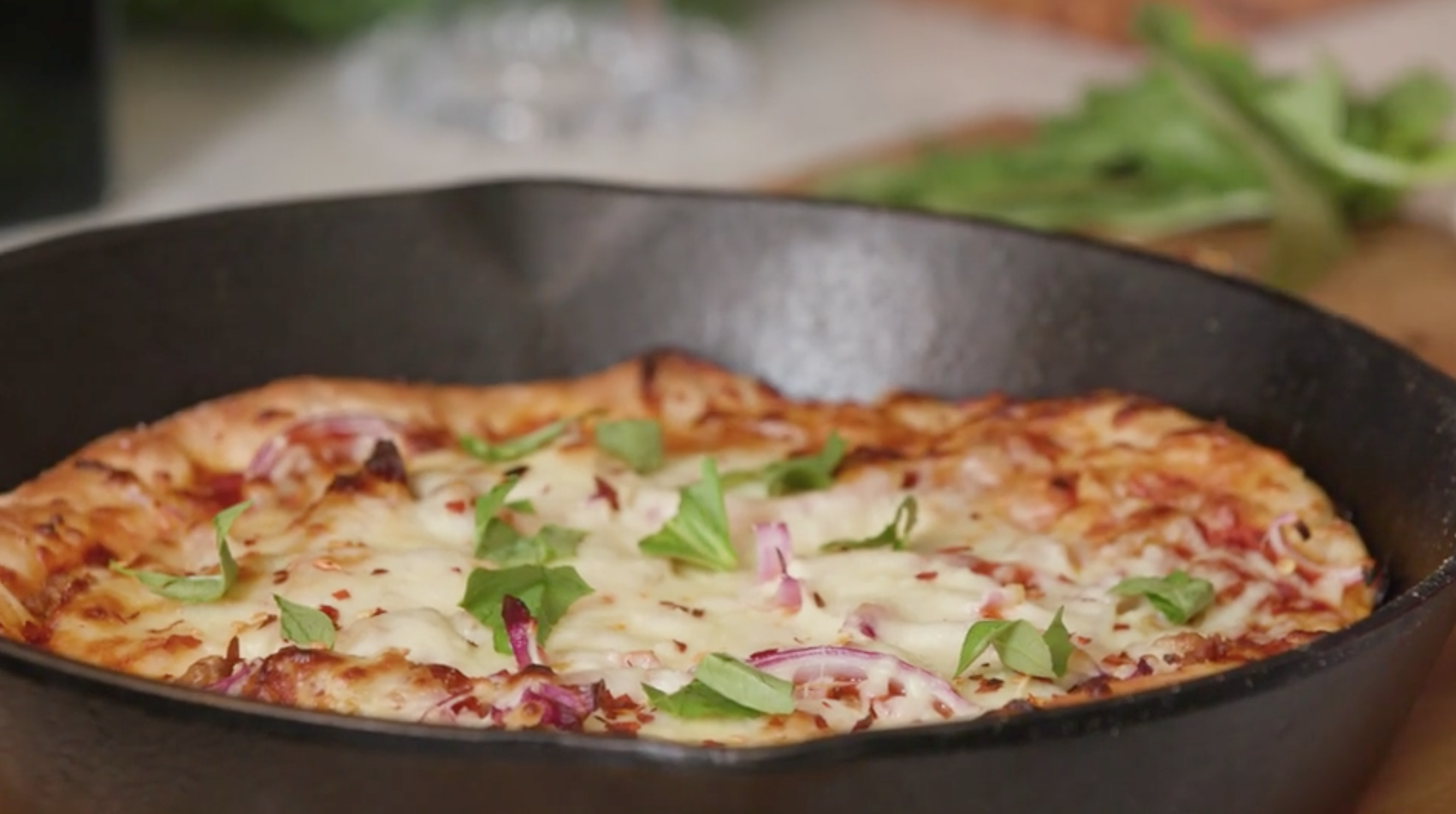 Cast-Iron Skillet Pizza