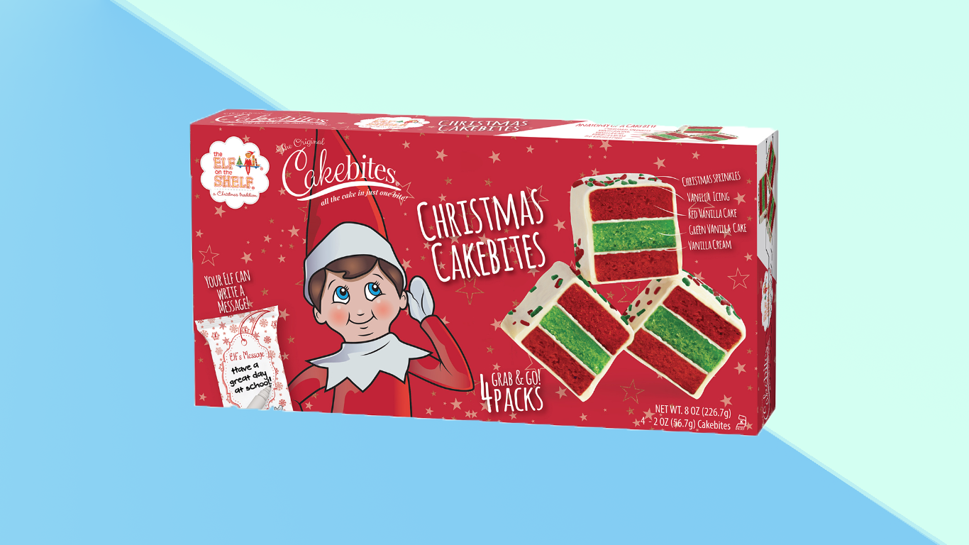 Elf on the Shelf Cakebites Are Perfect, Paranoid Snacking