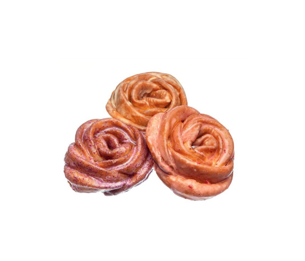 Rose Shaped Doughnuts