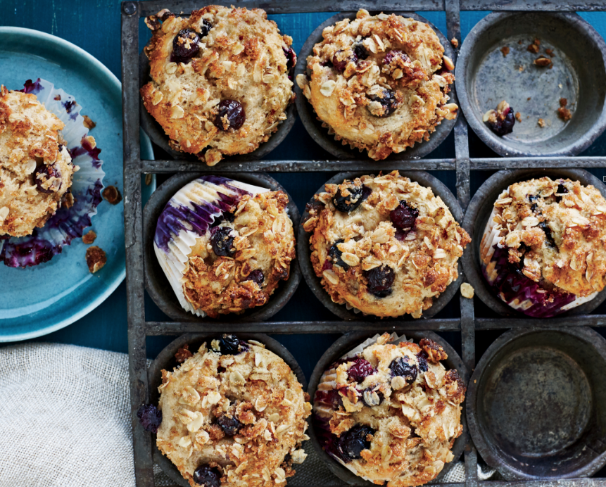 You Can Riff on This Healthy Blueberry-Sour Cream Muffin Recipe All Summer Long