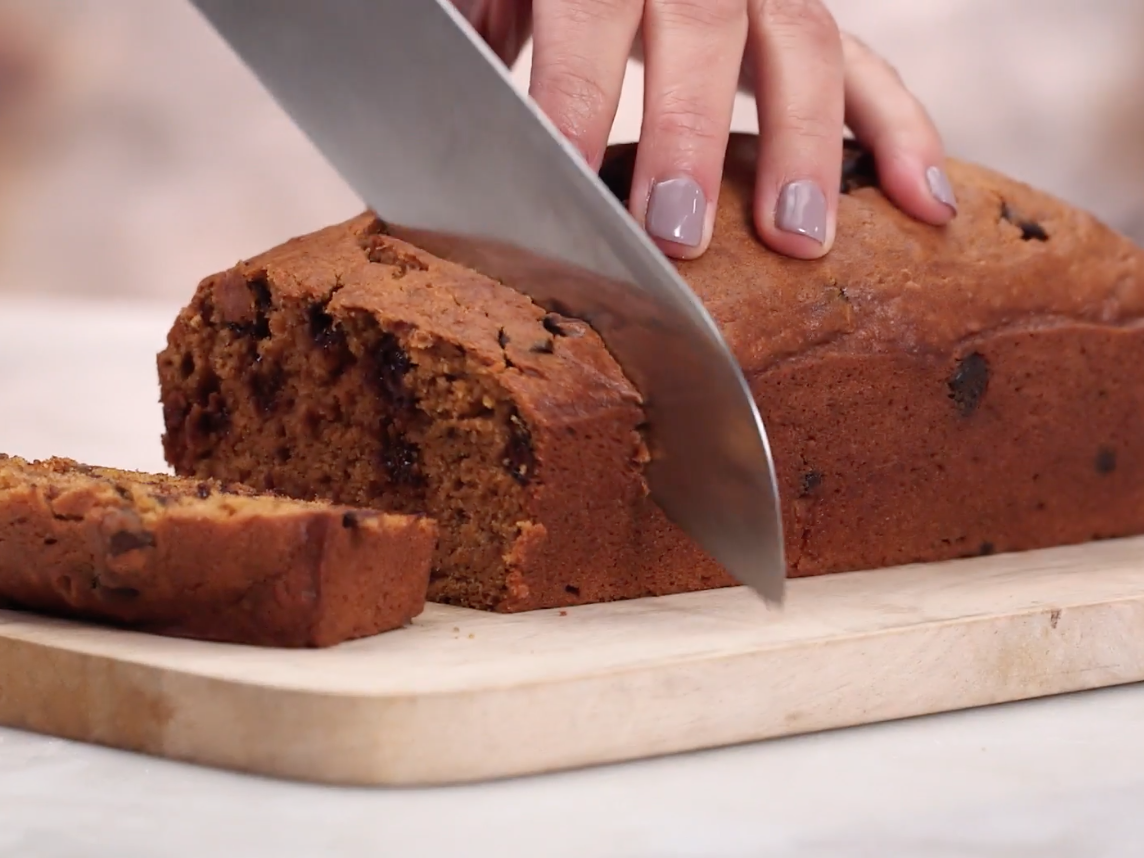Health Chocolate Chip Pumpkin Bread
