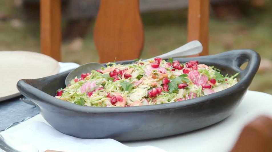 Smoky Brussels Sprout Slaw