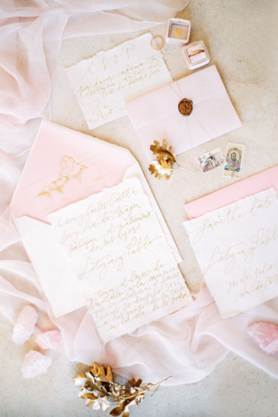 63b1dd0a880 Set the Stage with a Sweetly Pink Paper Suite. Pinterest  Wedding Sparrow