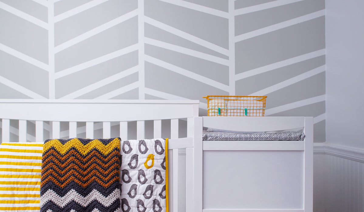 Adorably Chic Gray-and-White Nursery Ideas
