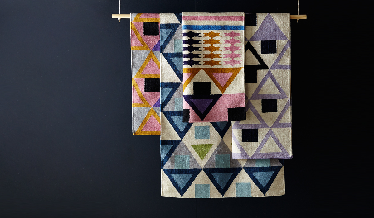 A Chic Study in Geometric Rugs