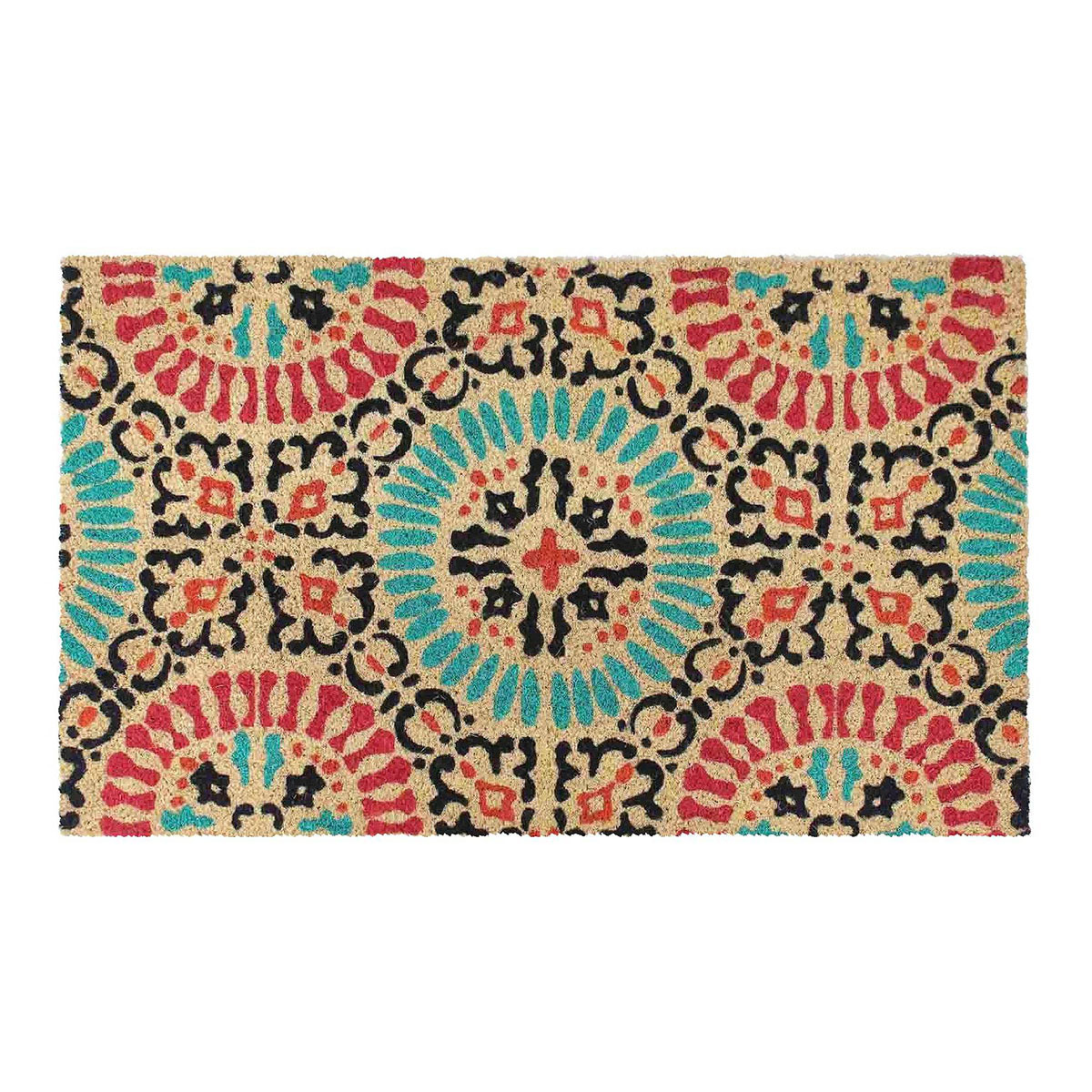 Target doormat with blue and red medallion pattern photo